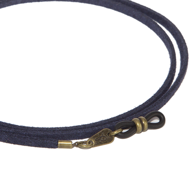 Cordón cuelga gafas estilo vintage antelina Índigo
