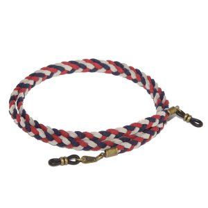 Cordón cuelga gafas estilo trenzado antelina Capri