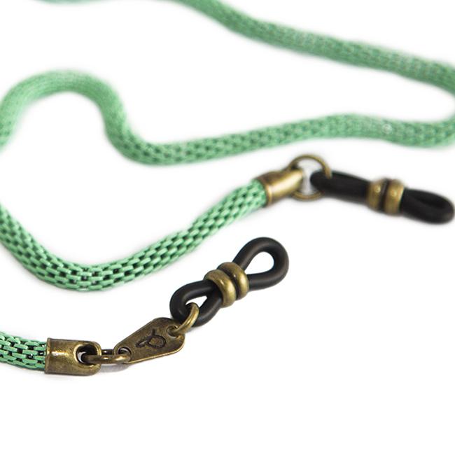 Cordón cuelga gafas de cadena tubular metálica Belleville