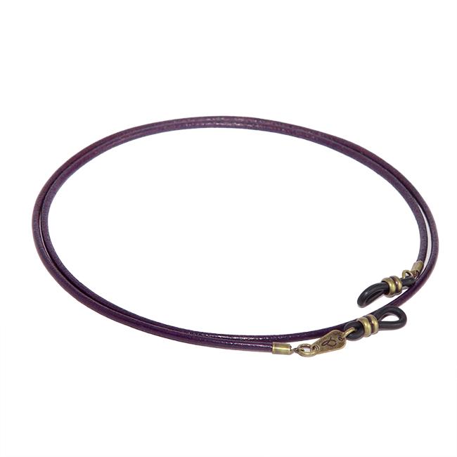 Cordón cuelga gafas estilo vintage cuero vegetal Purple Rain