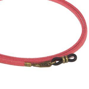 Cordón cuelga gafas estilo vintage antelina Jengibre