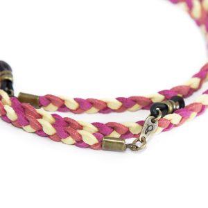 Cordón cuelga gafas estilo trenzado antelina Santorini