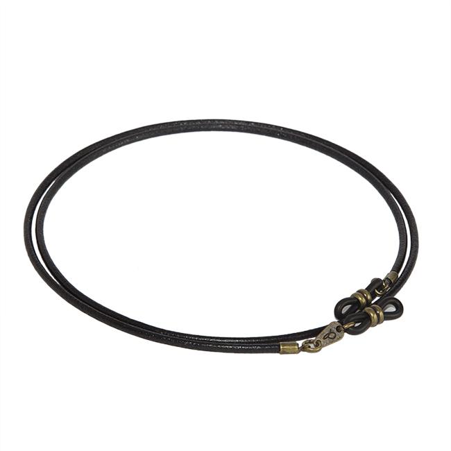 Cordón cuelga gafas estilo vintage cuero vegetal Black Velvet