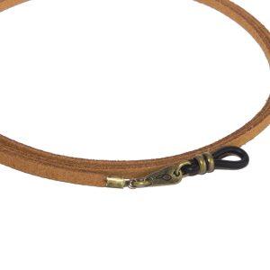 Cordón cuelga gafas estilo vintage antelina Canela