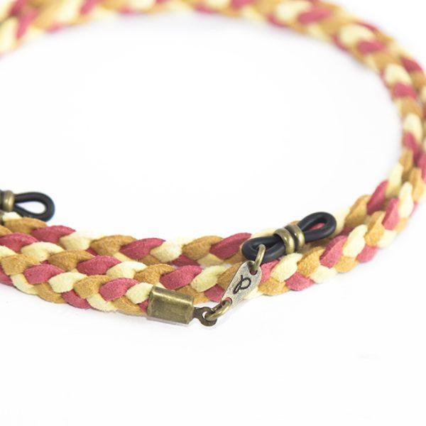 Cordón cuelga gafas estilo trenzado antelina Creta