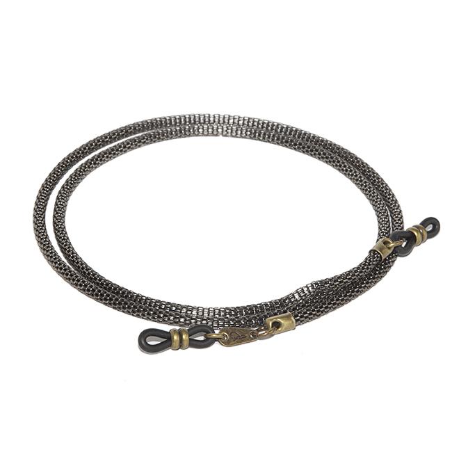 Cordón cuelga gafas de cadena tubular metálica Belgravia