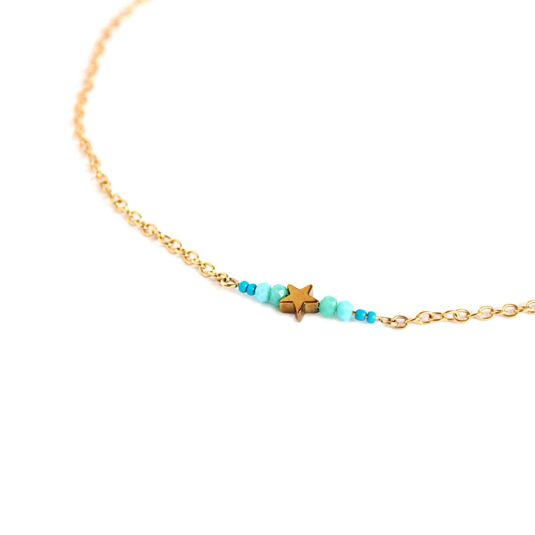 Detalle Collar con cadena de 2,3 mm de ancho Starfish