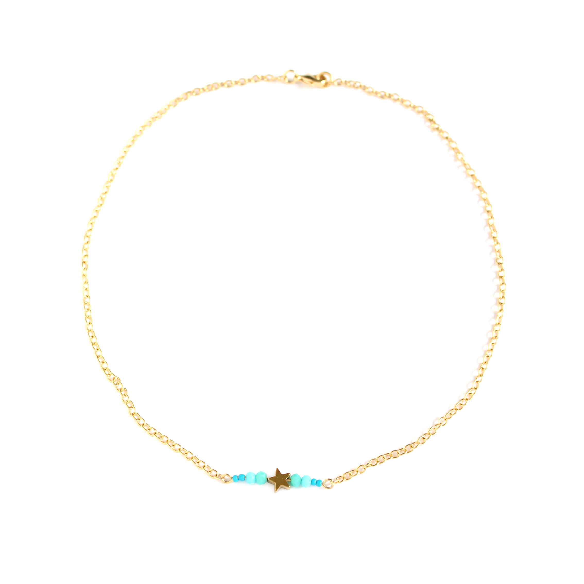 Collar con cadena de 2,3 mm de ancho Starfish