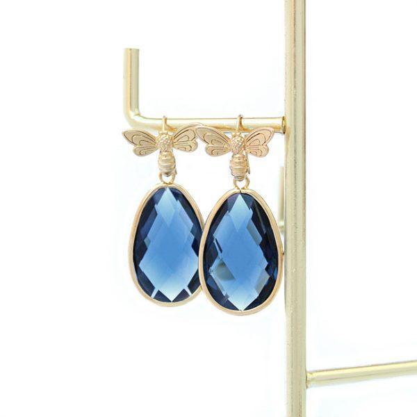 Pendientes Queen Bee Azul