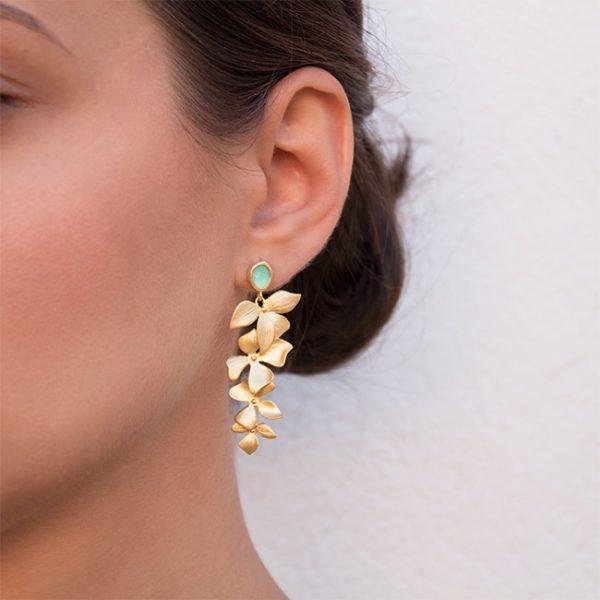pendientes-asia-garden-color-turquesa-pepitas-de-oro-modelo