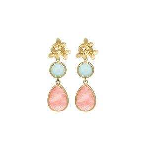 pendientes-cinderella-color-rosa-pepitas-de-oro