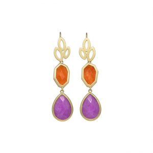 pendientes-girl-about-town-color-naranja-pepitas-de-oro