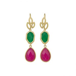 pendientes-girl-about-town-color-verde-pepitas-de-oro