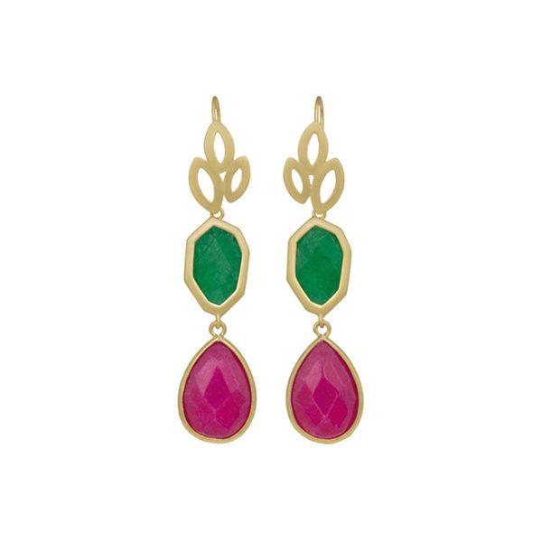 pendientes-girl-about-town-color-verde-pepitas-de-oro