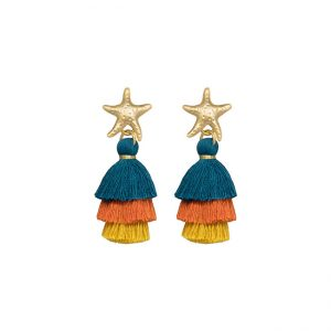 pendientes-hawaian-star-color-azul-pepitas-de-oro