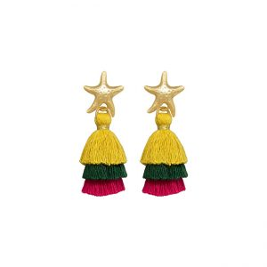 pendientes-hawaian-star-color-mostaza-pepitas-de-oro