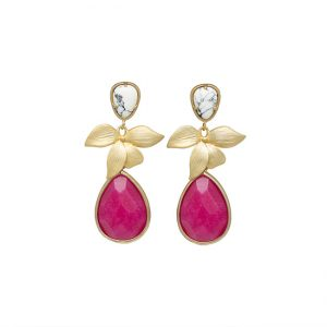 pendientes-royal-color-marmol-blanco-y-rosa-fucsia-pepitas-de-oro
