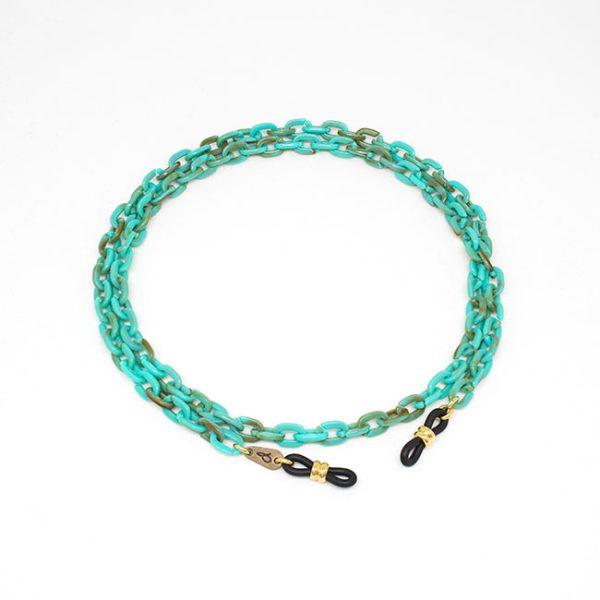 cadena-cuelga-gafas-animal-print-selva-turquesa-pepitas-de-oro