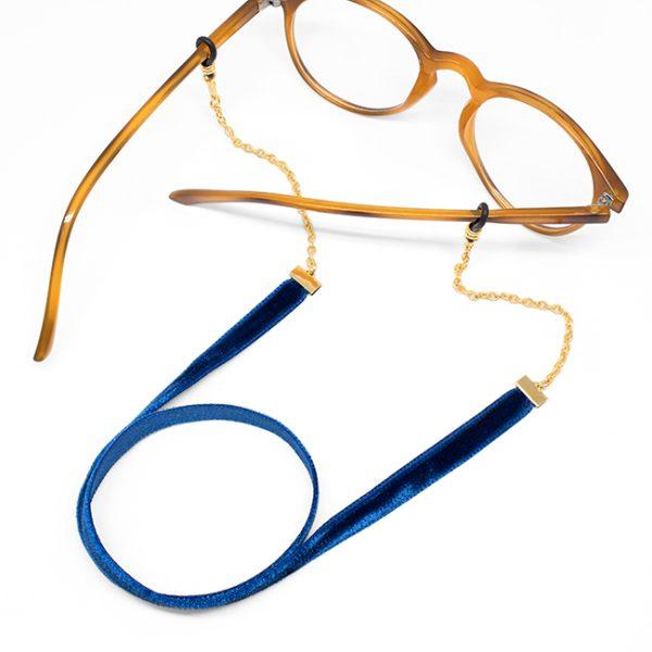 Cadena Velvet azul marino gafa