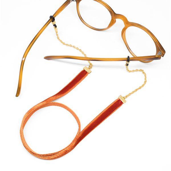 Cadena Velvet naranja gafa