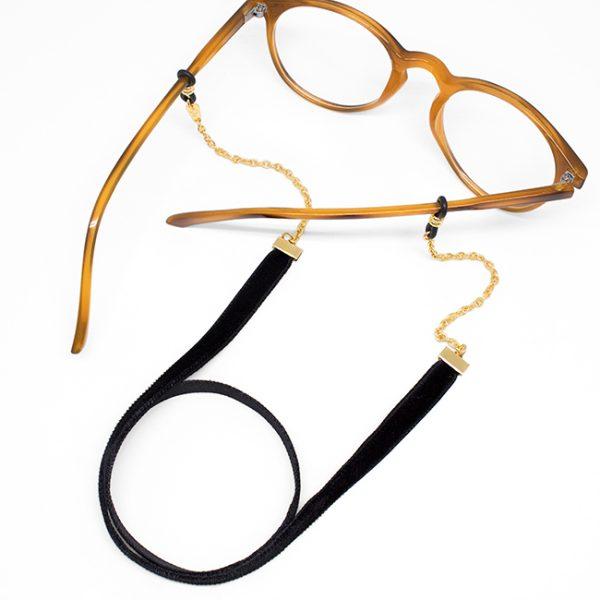 Cadena Velvet negro gafa