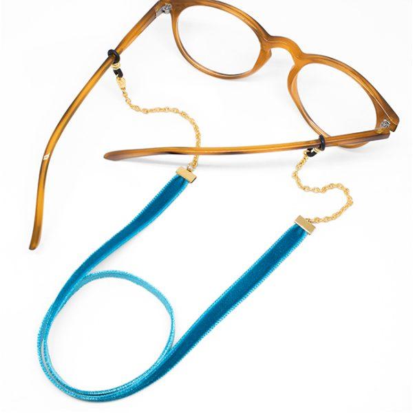 Cadena Velvet turquesa gafa