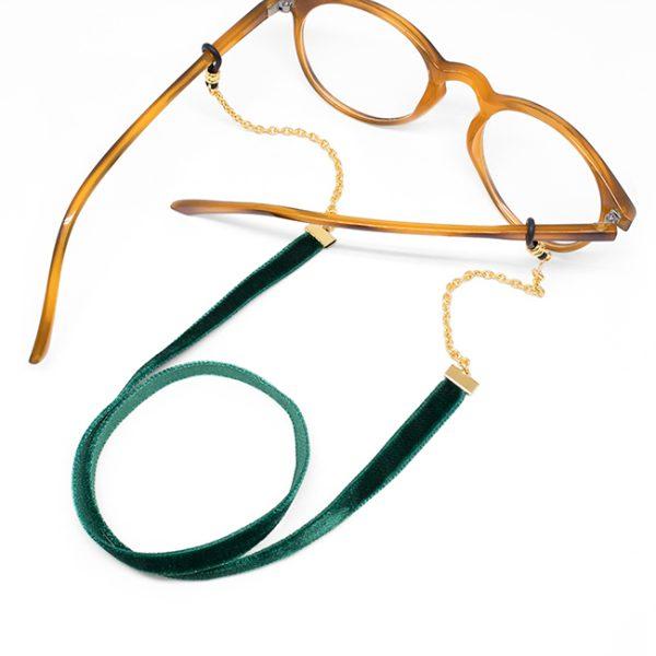 Cadena Velvet verde gafa